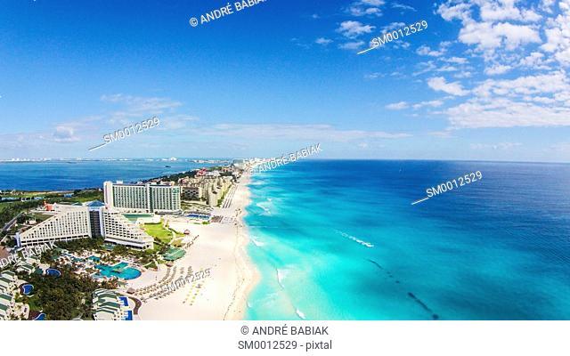 Drone photo - Cancun Beach, Mexico
