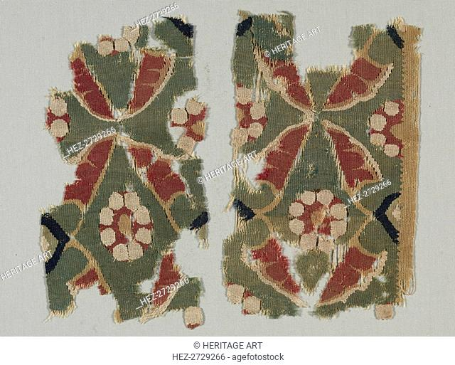 Fragment from a Large Hanging, 800s - 1000s. Creator: Unknown