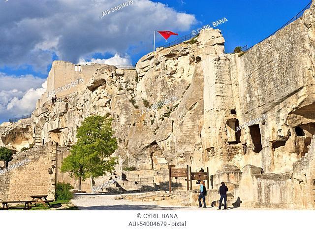 France, Provence, Les Baux de Provence, castel ruins