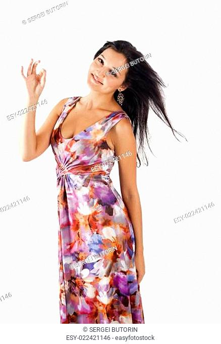 Woman with ok gesture