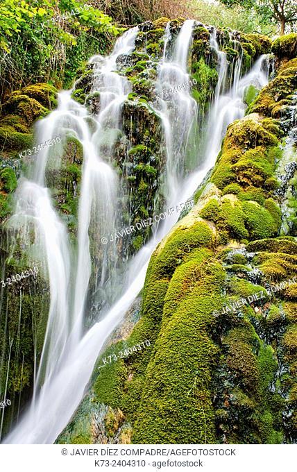 Waterfall. Molinar River. Tobera. Frías. Burgos province. Castilla y Leon. Spain.