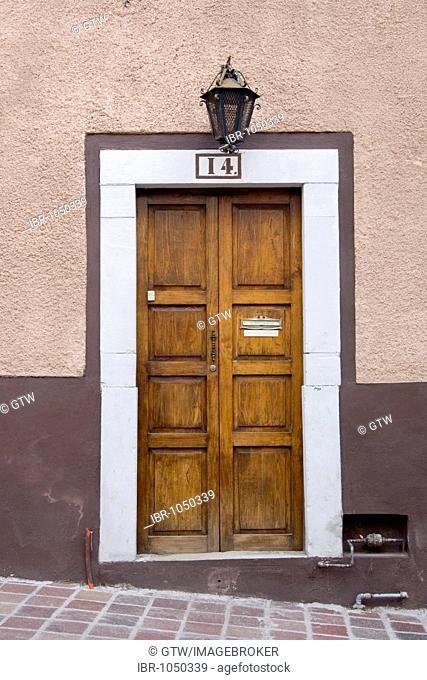 Door, historic town of Guanajuato, UNESCO World Heritage Site, Province of Guanajuato, Mexico