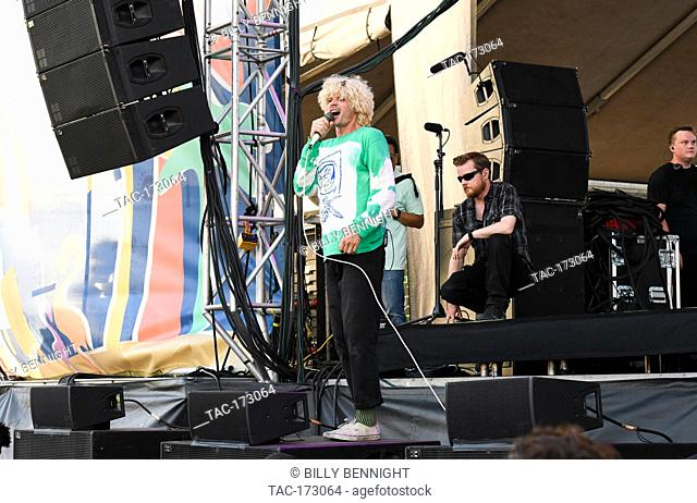 Christian Zucconi of the band Grouplove performs at ALT 98.7 Summer Camp at the Queen Mary in Long Beach on August 3, 2019