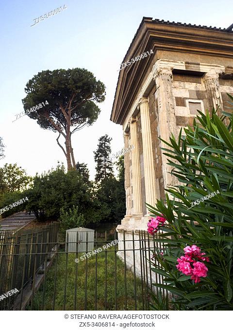 The Temple of Portunus (Tempio di Portuno) or Temple of Fortuna Virilis (manly fortune) - Rome, Italy
