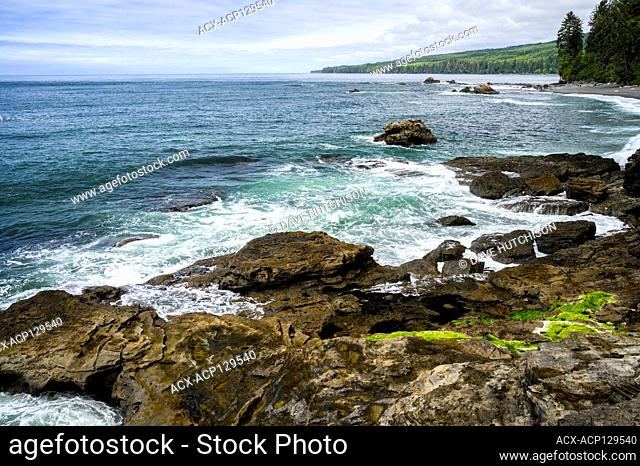 Sombrio Beach, Juan de Fuca Trail, near Port Renfrew, Vancouver Island, BC Canada