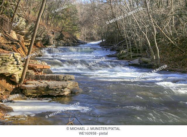 Tanyard Creek Park in Bella Vista, Arkansas. USA