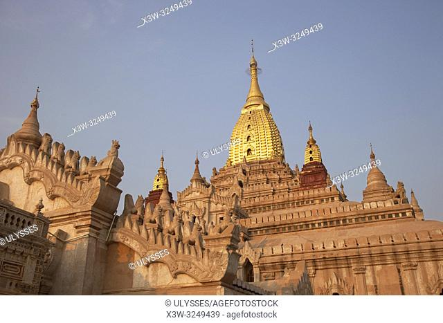 Ananda temple, Old Bagan village area, Mandalay region, Myanmar, Asia