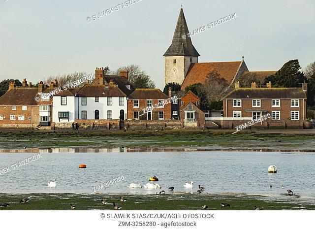 Winter afternoon in Bosham village, West Sussex, England