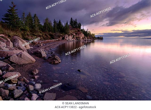 coast, sunrise, Iona, Cape Breton Island, Nova Scotia, Canada