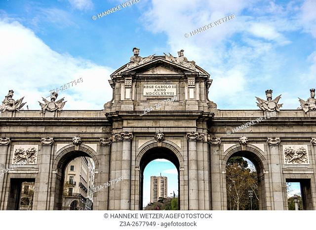 The Puerta de Alcalá (Alcalá Gate or 'Citadel Gate') is a Neo-classical monument in the Plaza de la Independencia in Madrid, Spain