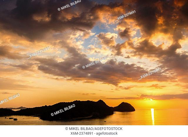 Sunset in Labuan Bajo town. Flores island. Indonesia, Asia