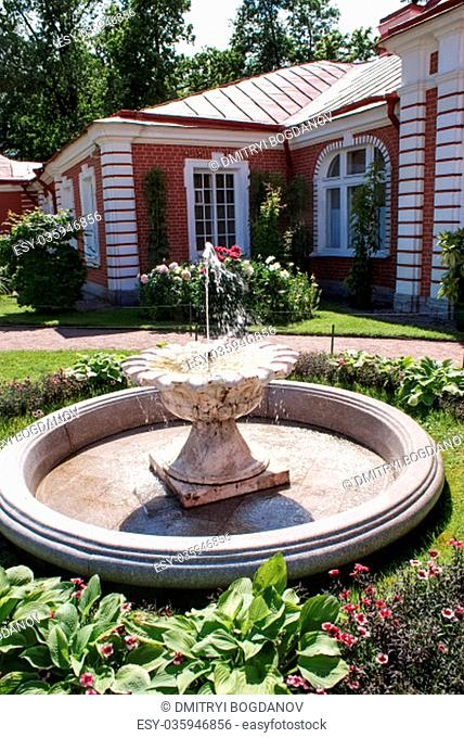 Saint-Petersburg, Russia - August 12, 2016: Fountains. Statues and monuments of St. Petersburg. City St. Petersburg architecture