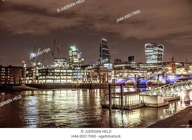United Kingdom, England, London, River Thames, Modern Architecture in Financial District , City of London, Tower 42, Leanenhall Building
