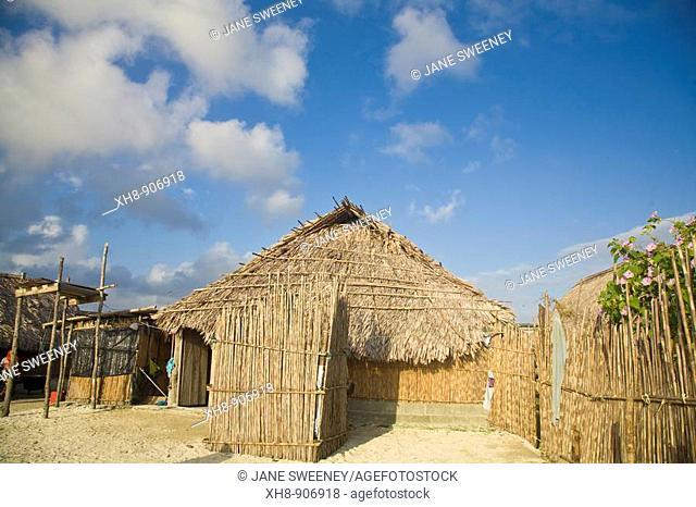 Thatched hut, Wichub-Wala Island, San Blas Islands, Kuna Yala, Panama