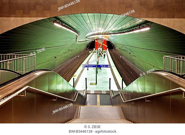 Underground station Lohring, Germany, North Rhine-Westphalia, Ruhr Area, Bochum