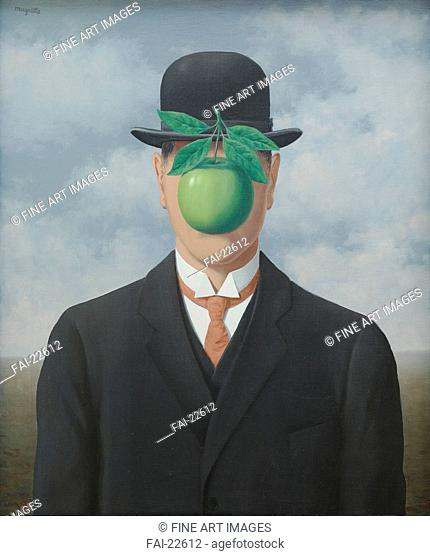 The Great War. Magritte, René François Ghislain (1898-1967). Oil on canvas. Surrealism. 1964. Belgium. Private collection, Schwitzerland. 65x54