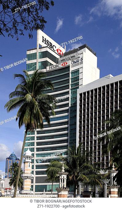 Malaysia, Kuala Lumpur, Merdeka Square, HSBC Building, Masjid Jamek Mosque