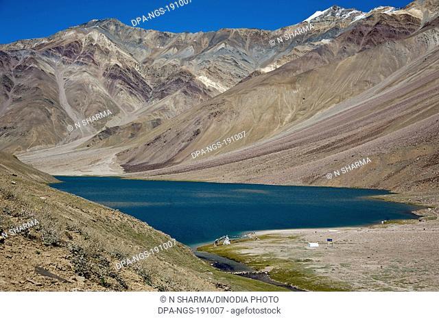 chandratal lake himachal pradesh India Asia