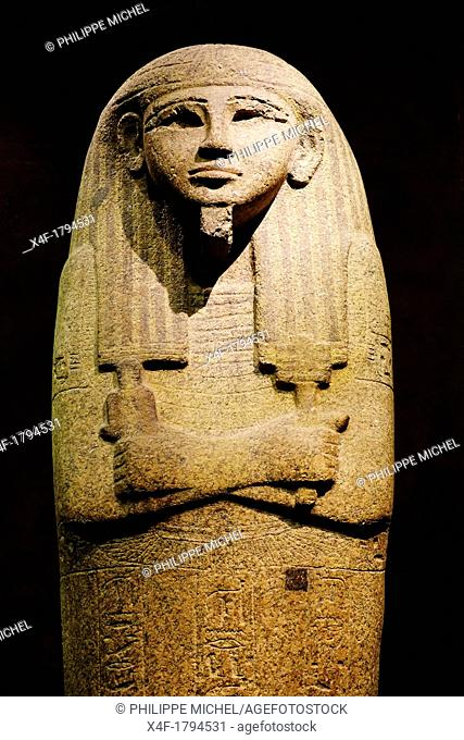 Italy, Piedmont, Turin, Egyptian museum, Sarcophagus Lid