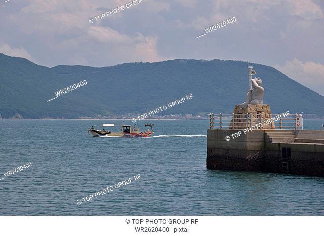 Spot,Joki Port Onigashima Breakwater Lighthouse,Japan