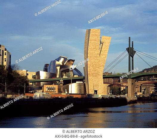 built by Frank Gehry, Bilbao, Spain
