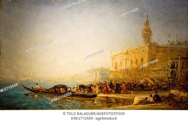 Félix François-Georges-Philibert Ziem, Venise Le Grand Canal, oil on cardboard, Museo Nacional de Bellas Artes (MNBA), Buenos Aires, Argentina