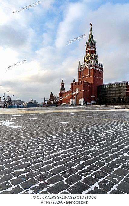 Russia, Moscow, Red Square, Kremlin, Kremlin Spasskaya Tower