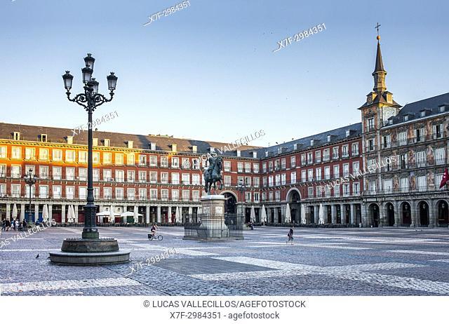 Plaza Mayor (Main Square). Madrid. Spain