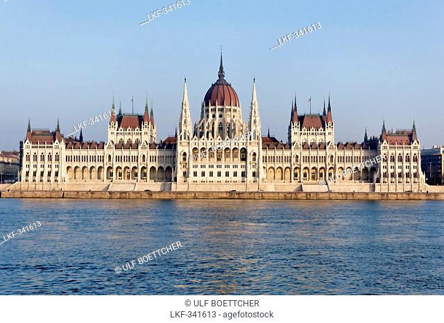 View of the Parliament over the Danube, Budapest, Hungary