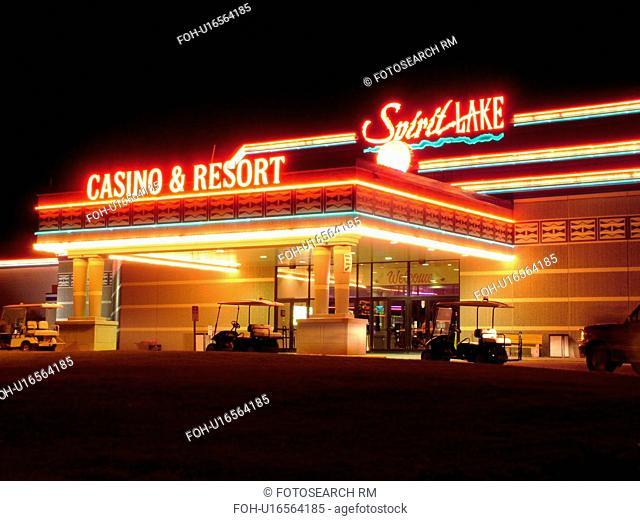 St. Michael, ND, North Dakota, Spirit Lake Casino and Resort, night