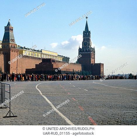 Eine Reise nach Moskau, Russland 1980er Jahre. A trip to Moscow, Russia 1980s