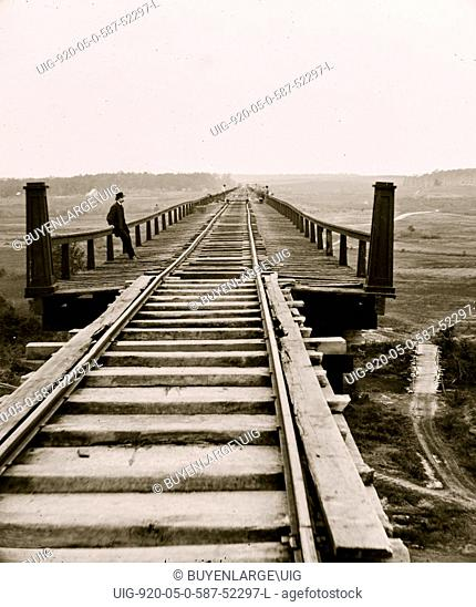 Farmville, Va., vicinity. High bridge of the South Side Railroad across the Appomattox 1864