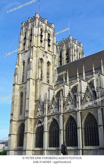 Cathedrale des Sts Michel et Gudule, St Michael and St Gudula Cathedral, Place Sainte-Gudule, Brussels, Belgium