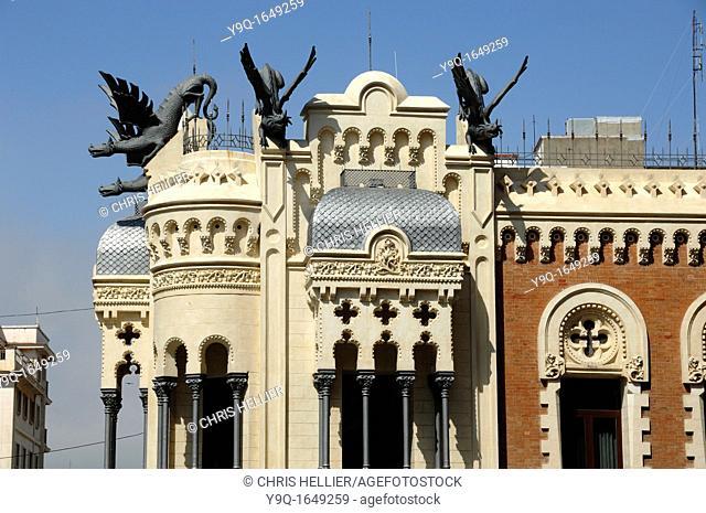 House of Dragons or Casa de los Dragones on Calle Camoens Ceuta Spain