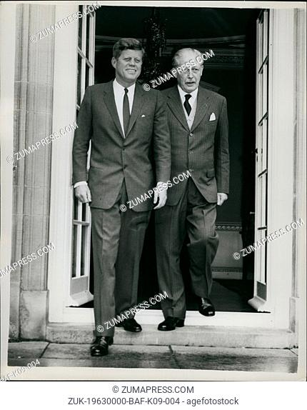 Dec. 00, 1963 - Kennedy Meets With Mac: President Kennedy and Mr Macmillan are holding weekend talks at Birch Grove, the holding weekend talks at Birch Grove
