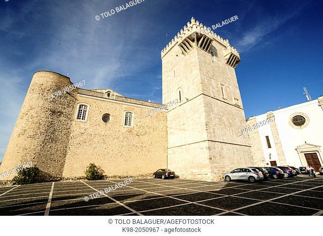Chapel in honour of Queent Elizabeth of Portugal, granddaughter of James I the Conqueror. Estremoz, Alentejo, Portugal