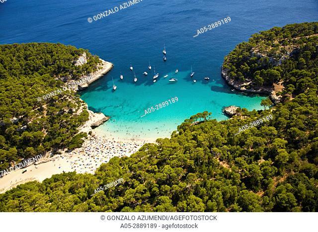 Cala Mitjana. Minorca. Balearic Islands. Spain