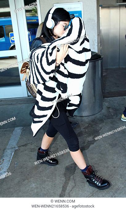 9938a078e33ffb Kylie Jenner arrives at Los Angeles International (LAX) airport Featuring: Kylie  Jenner Where