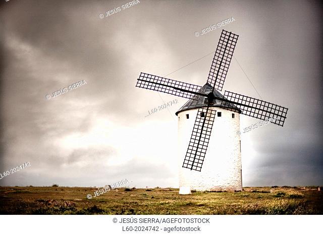 Windmill. Campo de Criptana. Ciudad Real province. Castile-La Mancha. Spain