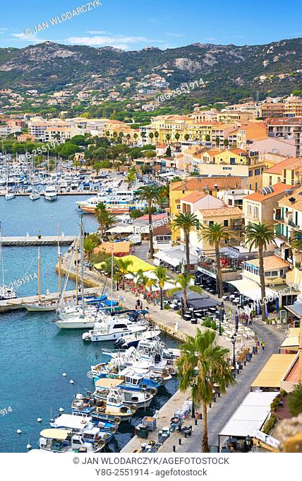 Calvi - view at marina, Balagne, West Coast, Corsica Island, France