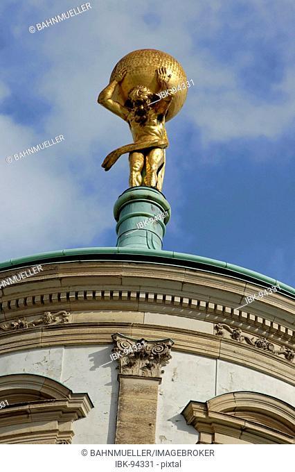 Potsdam Brandenburg Germany Facade and cuppola of the ols city Hall at the old market Atlant Atlas