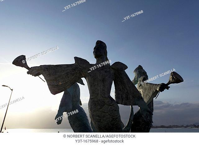 North Africa, Tunisia, Cape Bon, Hammamet. Sculpture Square