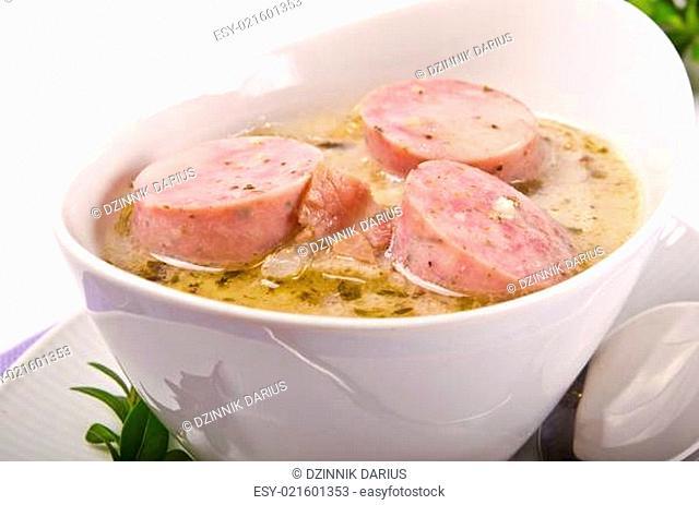 Zurek ist eine herzhafte Polnische Suppe