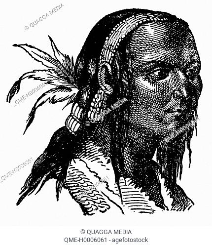 Portrait of a Kuchin Indian on the Mackenzie