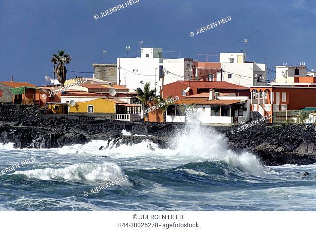 El Remo, waves, La Palma, Canary Islands, Spain