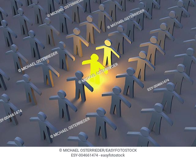 3D Illustration  The illuminated One