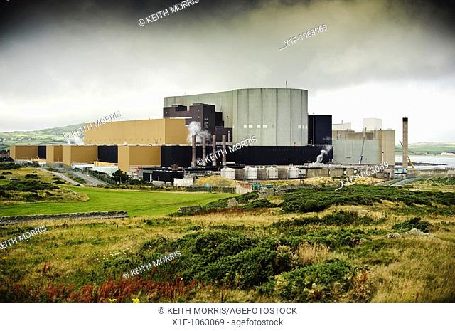 Wylfa Atomic Energy nuclear power plant, Cemaes, Anglesey, North Wales UK