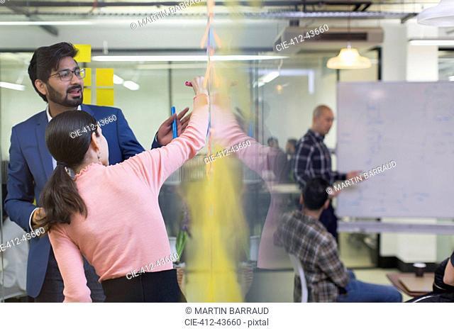 Creative business people brainstorming in office