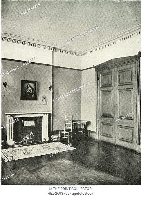 'Contrasted Interiors: Regency - Mecklenburgh Square, Bloomsbury', (1938). Artist: Unknown