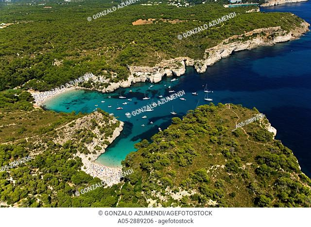 Calas Macarella y Macarelleta.Minorca. Menorca. Balearic Islands. Islas Baleares. Spain